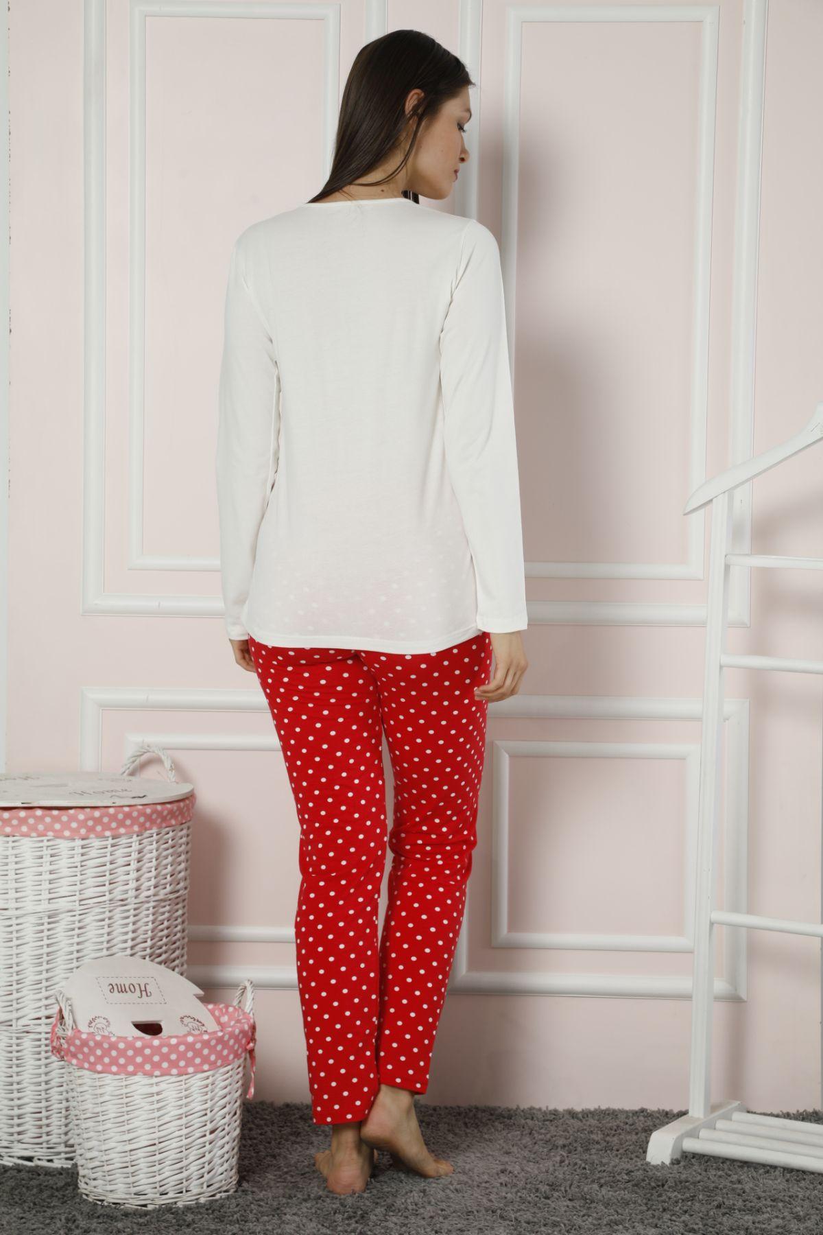 Dantelli Pamuklu Likralı Pijama Takım