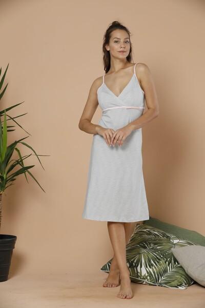 - İp Askılı Pamuklu Likralı Elbise