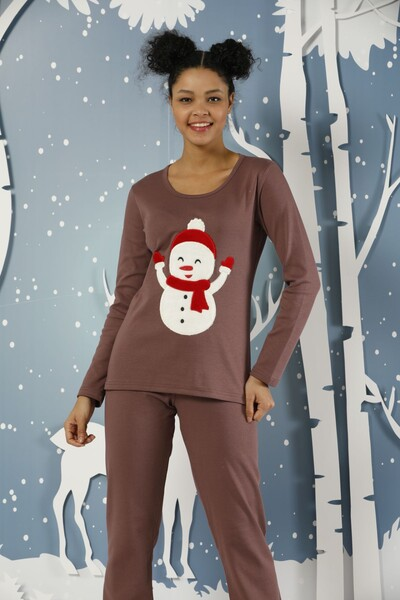 - Nakışlı İnterlok Pijama Takımı