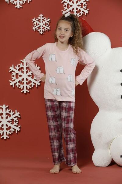 - Pamuklu Likralı Pijama Takım