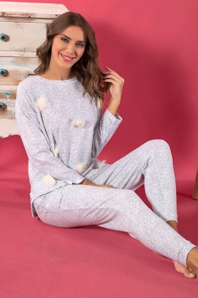 - Pamuklu Şardonlu Pijama Takım