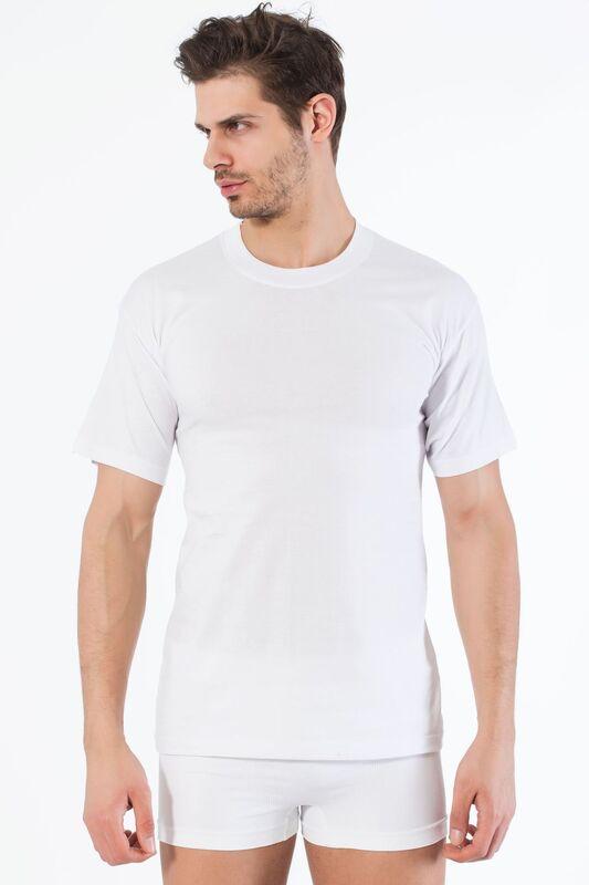 Beyaz Pamuklu Yuvarlak Yaka Kısa Kol T-Shirt