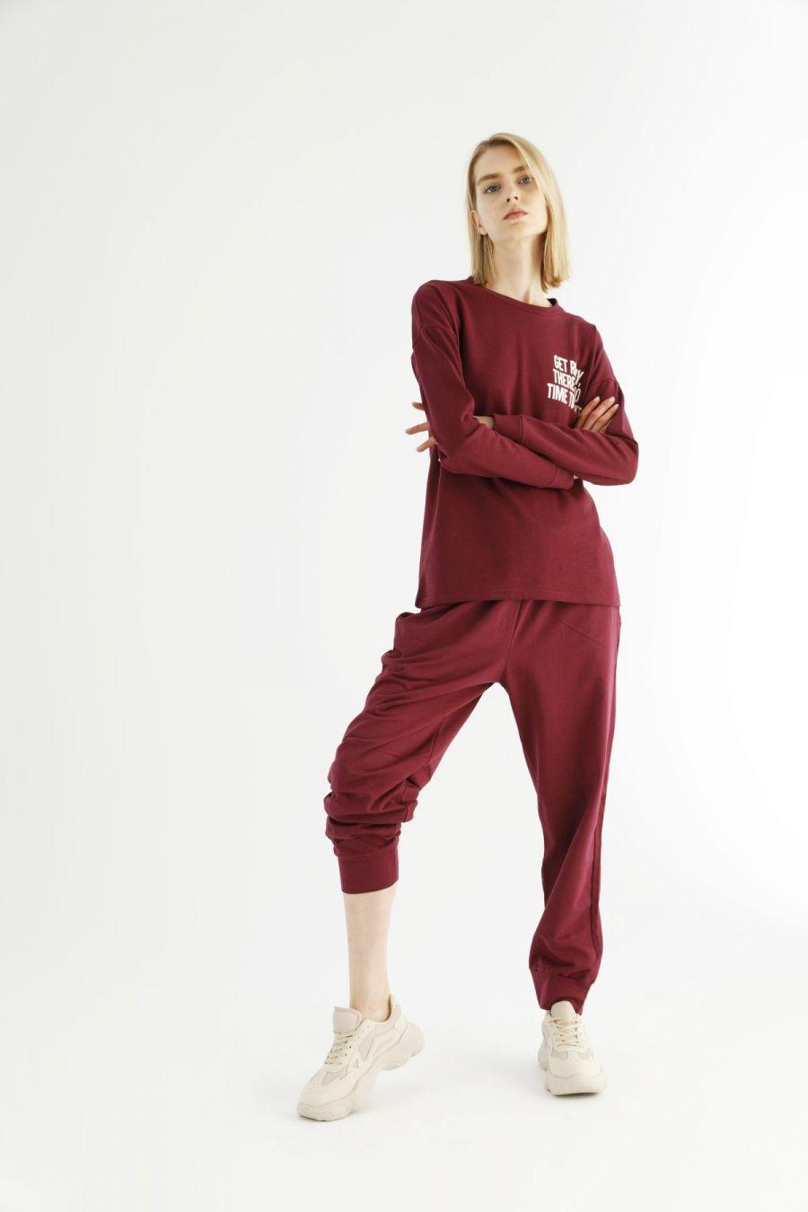 Bordo Cepli Eşofman-Sweatshirt Takım 21278030