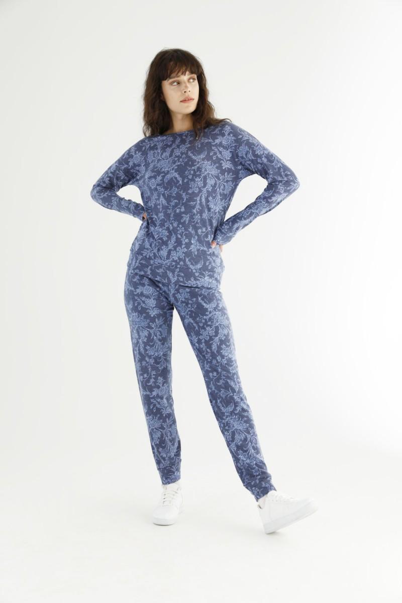 SİYAH İNCİ - Desenli Eşofman-Sweatshirt Takım 21278005