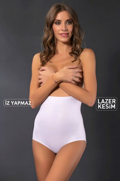 SİYAH İNCİ - Dikişsiz Lazer Kesim Slip Korse