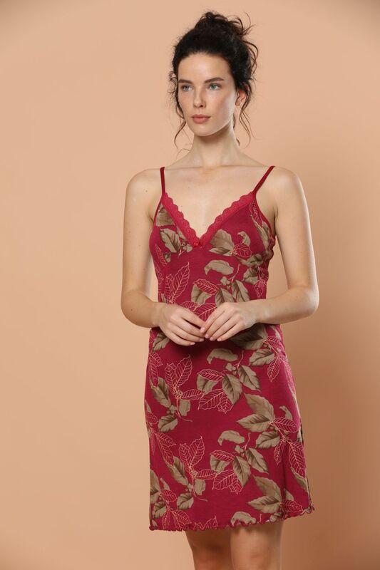 SİYAH İNCİ - İp Askılı Dantel Detaylı Viskon Elbise