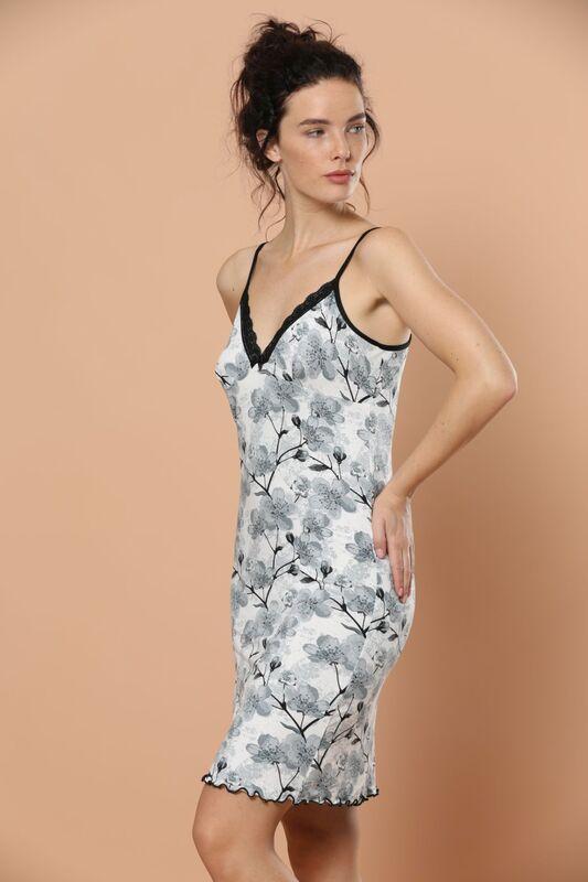 İp Askılı Dantel Detaylı Viskon Elbise