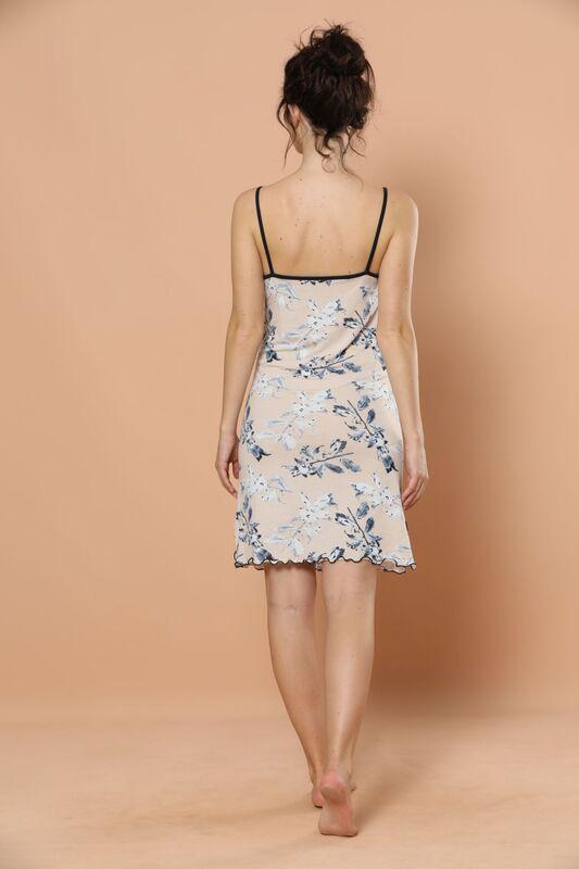 İp Askılı Viskon Elbise