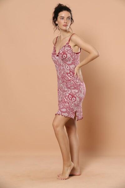SIYAH INCI - İp Askılı Viskon Elbise