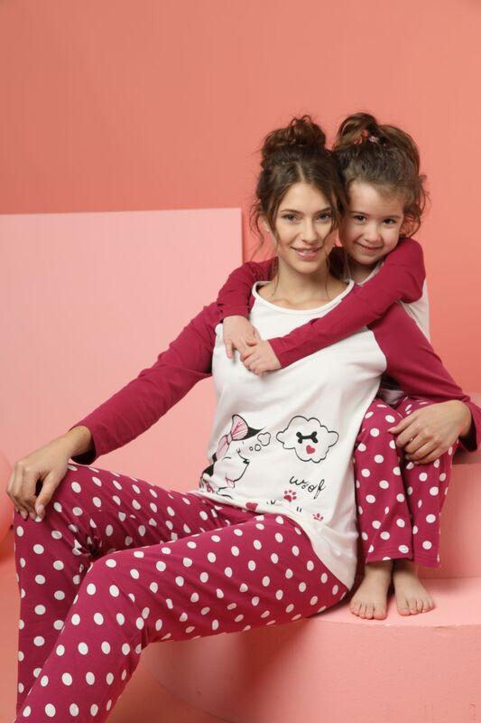 SİYAH İNCİ - Kadın Pamuklu Likrali Pijama Takım