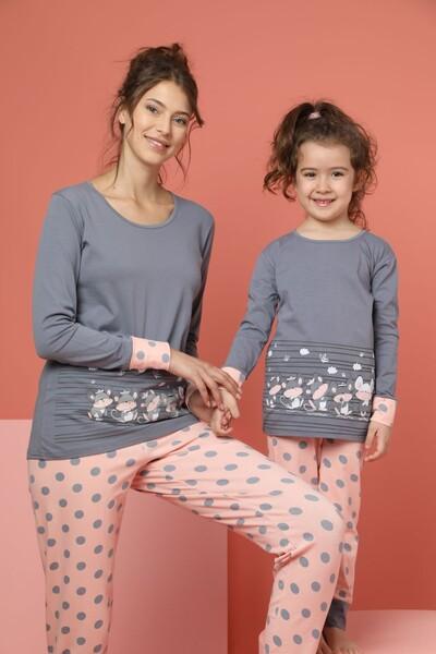 SIYAH İNCİ - Kadın Pamuklu Likrali Pijama Takım