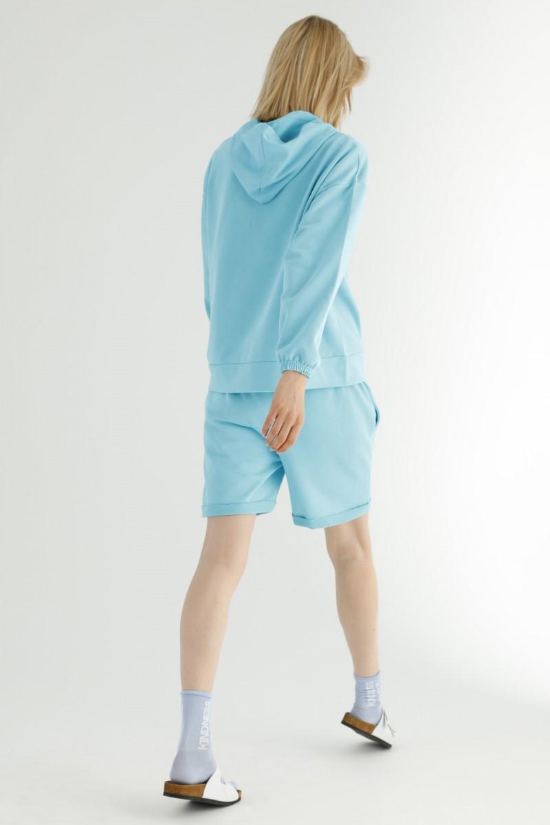 SİYAH İNCİ - Kapişonlu Kangru Cepli Şortlu Eşofman-Sweatshirt Takım 21278511