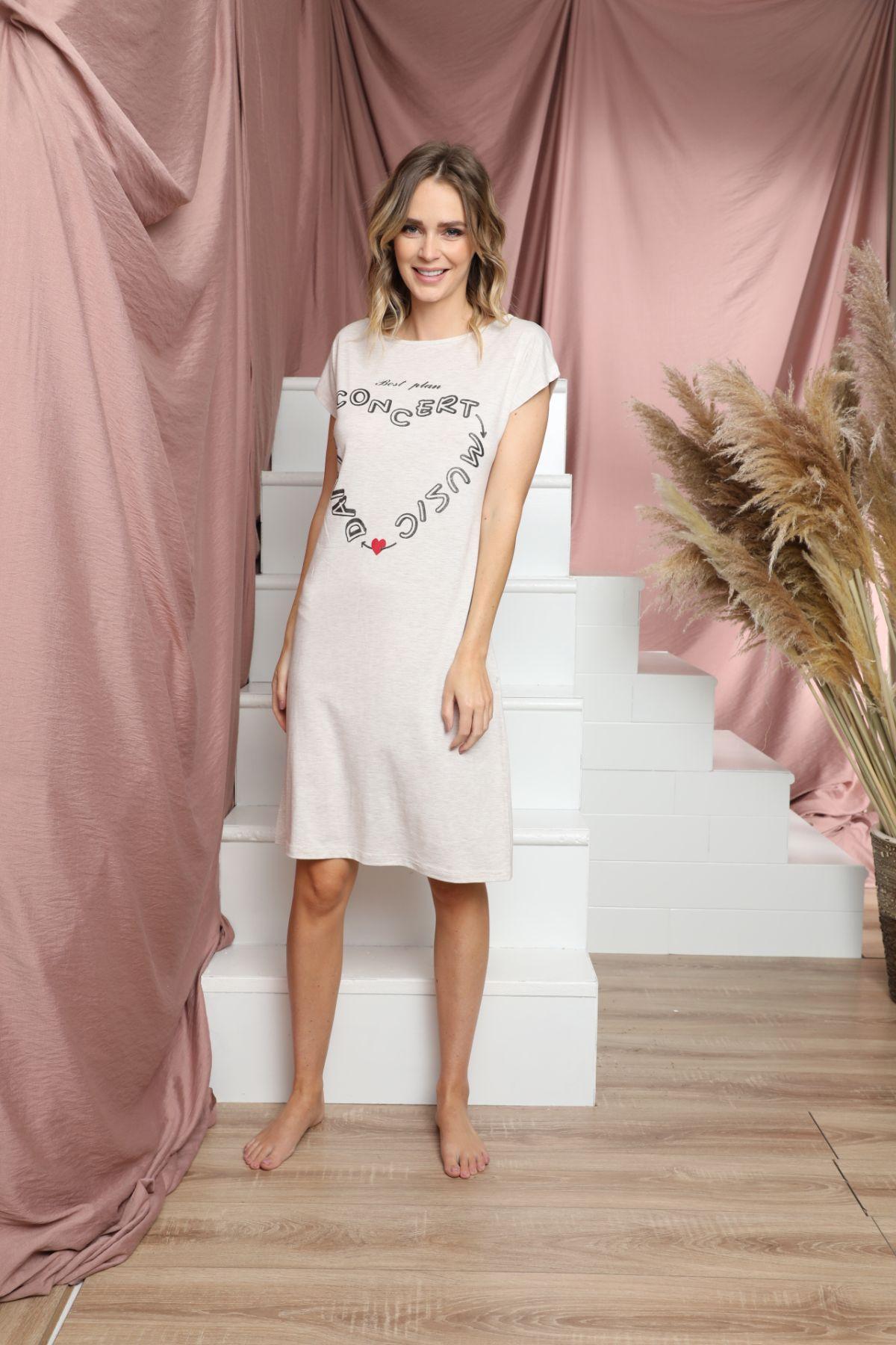SİYAH İNCİ - Kısa Kollu Pamuklu Likralı Elbise 21135502