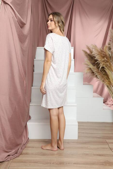 Kısa Kollu Pamuklu Likralı Elbise 21135505
