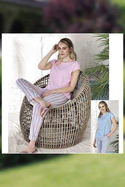 - Pamuklu Dokuma Pijama Takım