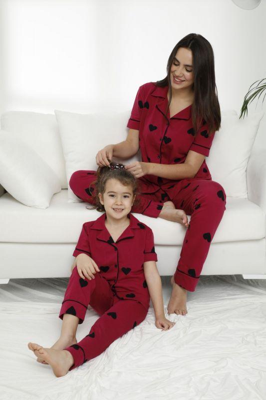SIYAH INCI - Pamuklu Likralı Düğmeli Pijama Takım 21155610