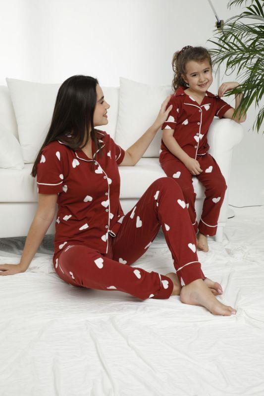 SIYAH INCI - Pamuklu Likralı Düğmeli Pijama Takım 21155611