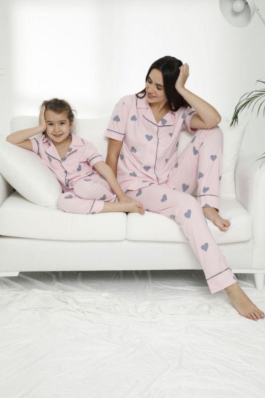 SIYAH INCI - Pamuklu Likralı Düğmeli Pijama Takım 21155612