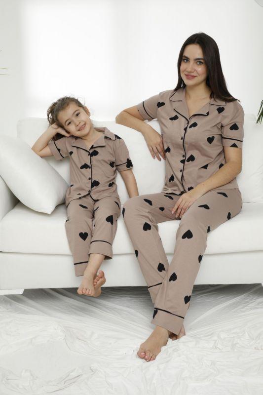 SIYAH INCI - Pamuklu Likralı Düğmeli Pijama Takım 21155613