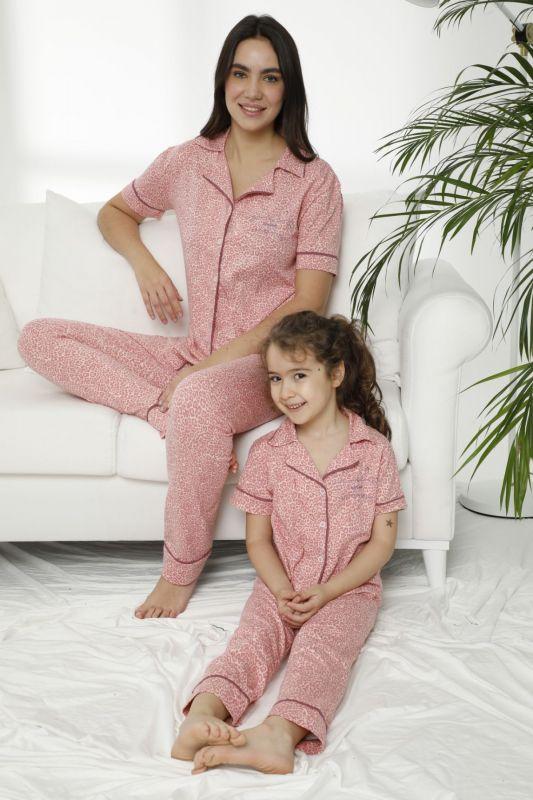 SIYAH INCI - Pamuklu Likralı Düğmeli Pijama Takım 21155628