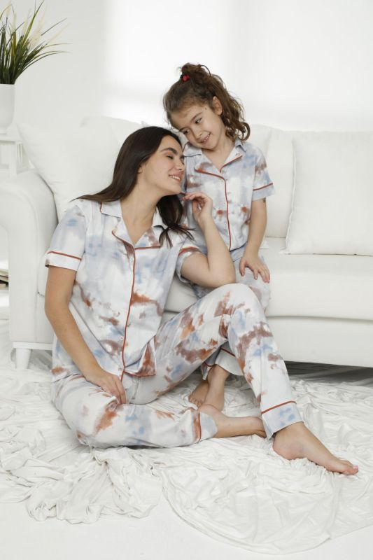 SIYAH INCI - Pamuklu Likralı Düğmeli Pijama Takım 21155666