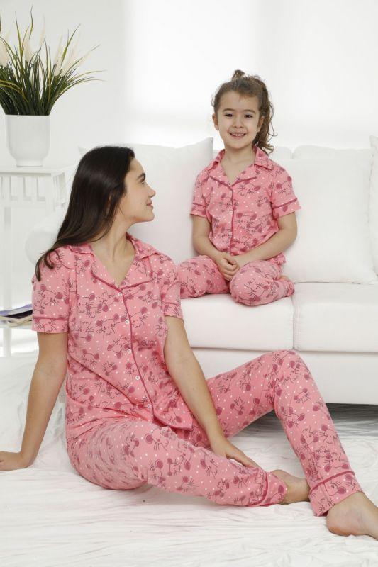 SIYAH INCI - Pamuklu Likralı Düğmeli Pijama Takım 21155677