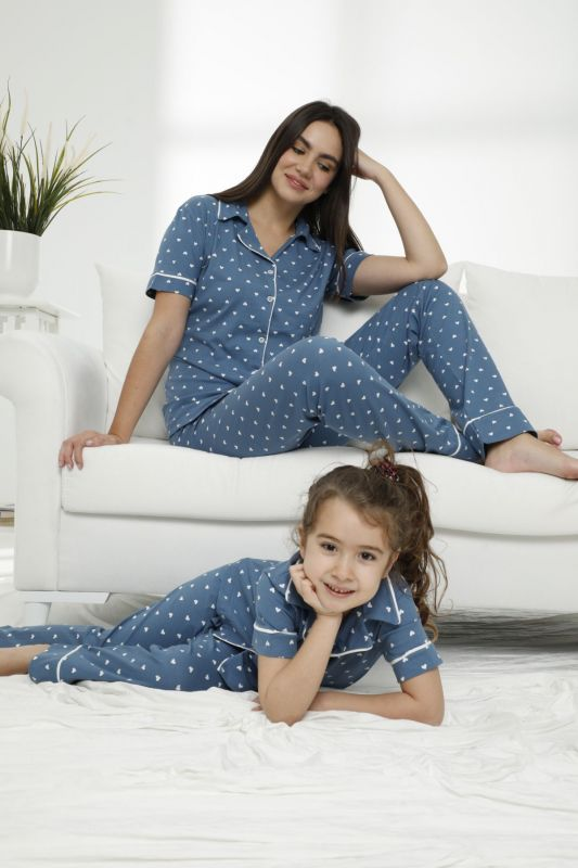 SIYAH INCI - Pamuklu Likralı Düğmeli Pijama Takım 21155678