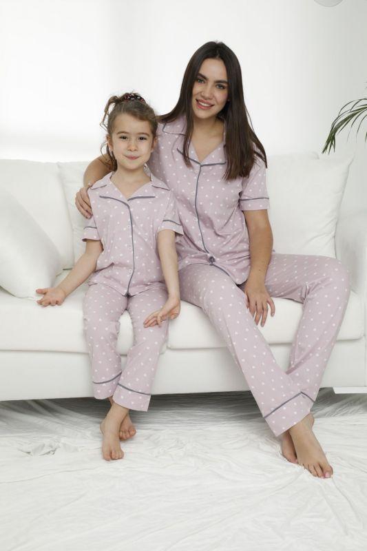 SIYAH INCI - Pamuklu Likralı Düğmeli Pijama Takım 21155682