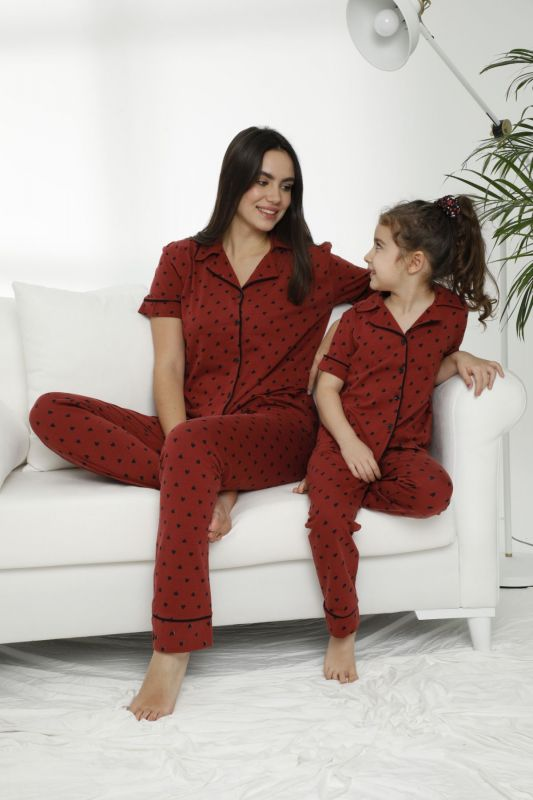 SIYAH INCI - Pamuklu Likralı Düğmeli Pijama Takım 21155684