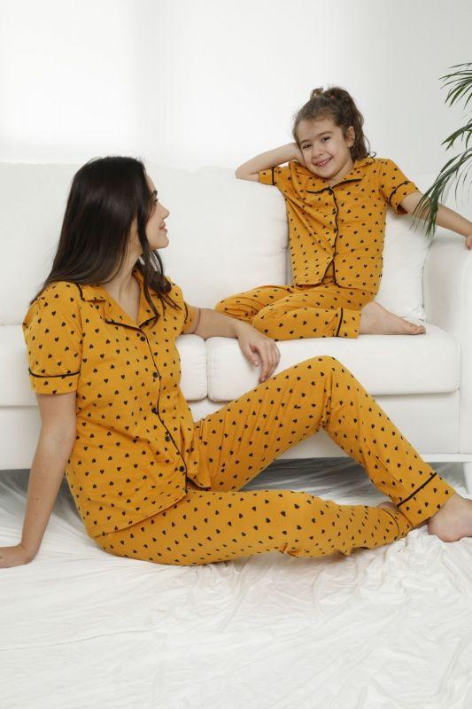 SIYAH INCI - Pamuklu Likralı Düğmeli Pijama Takım 21155685