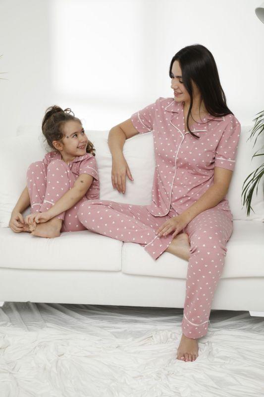 SIYAH INCI - Pamuklu Likralı Düğmeli Pijama Takım 21155686