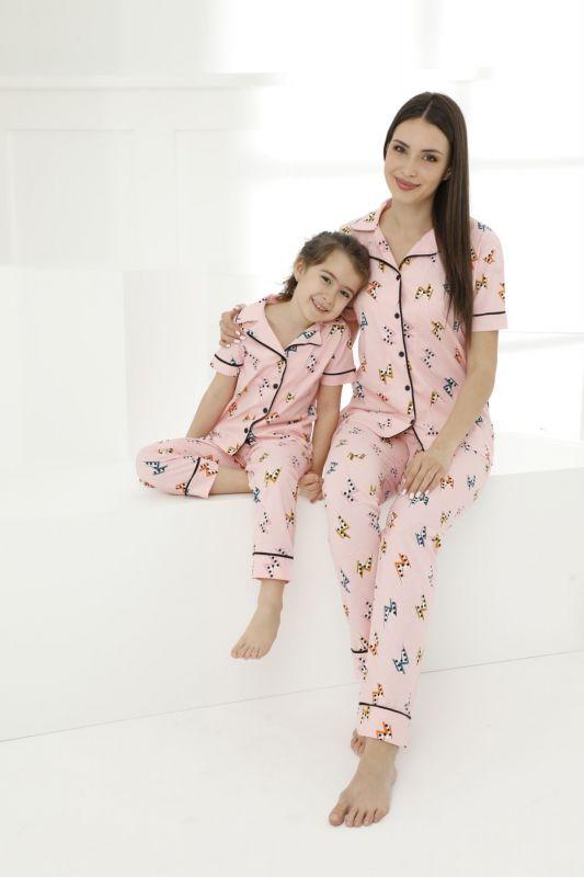 SIYAH INCI - Pamuklu Likralı Düğmeli Pijama Takım 21155695