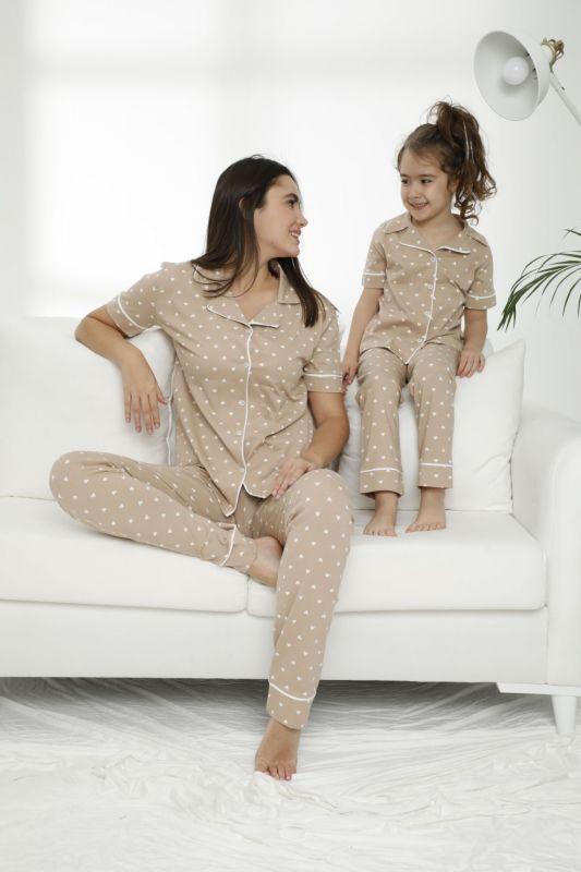SIYAH INCI - Pamuklu Likralı Düğmeli Pijama Takım 21156006