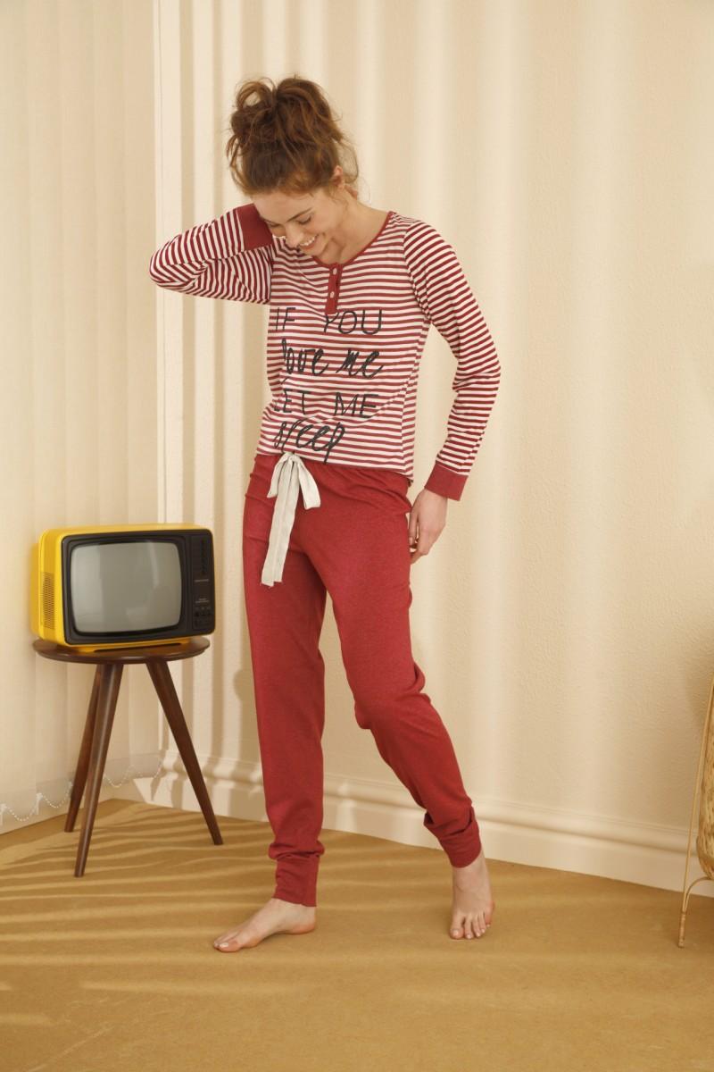 SİYAH İNCİ - Pamuklu Likralı Düğmeli Pijama Takım 21260347
