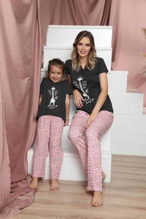 Pamuklu Likralı Kısa Kollu Pijama Takım 21140804