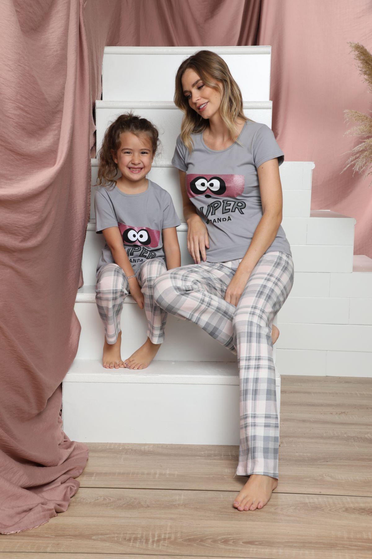 SIYAH INCI - Pamuklu Likralı Kısa Kollu Pijama Takım 21140811