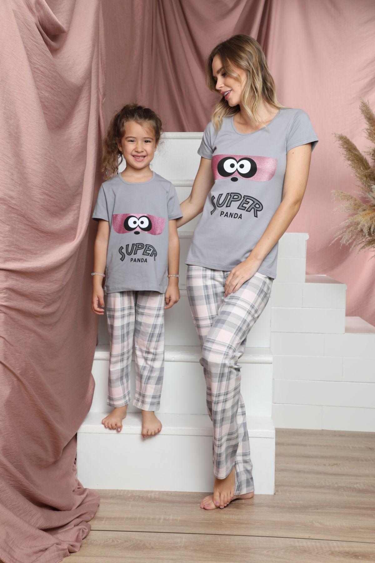 SİYAH İNCİ - Pamuklu Likralı Kısa Kollu Pijama Takım 21140811