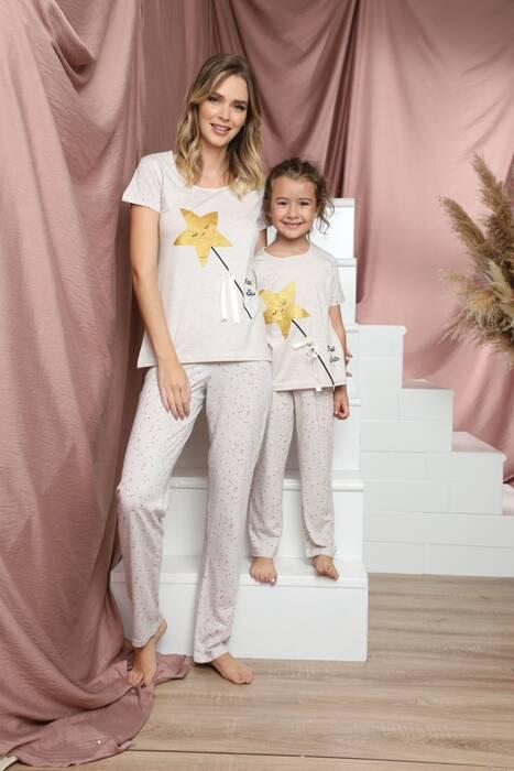 Pamuklu Likralı Kısa Kollu Pijama Takım 21140820