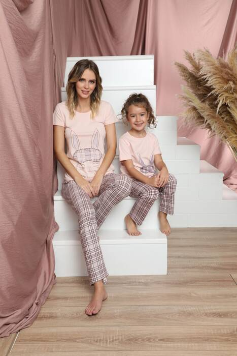 Pamuklu Likralı Kısa Kollu Pijama Takım 21140830