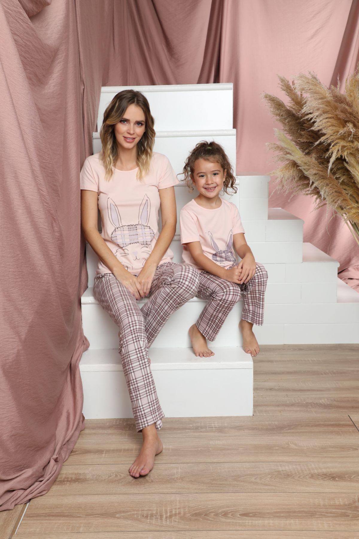 SİYAH İNCİ - Pamuklu Likralı Kısa Kollu Pijama Takım 21140830