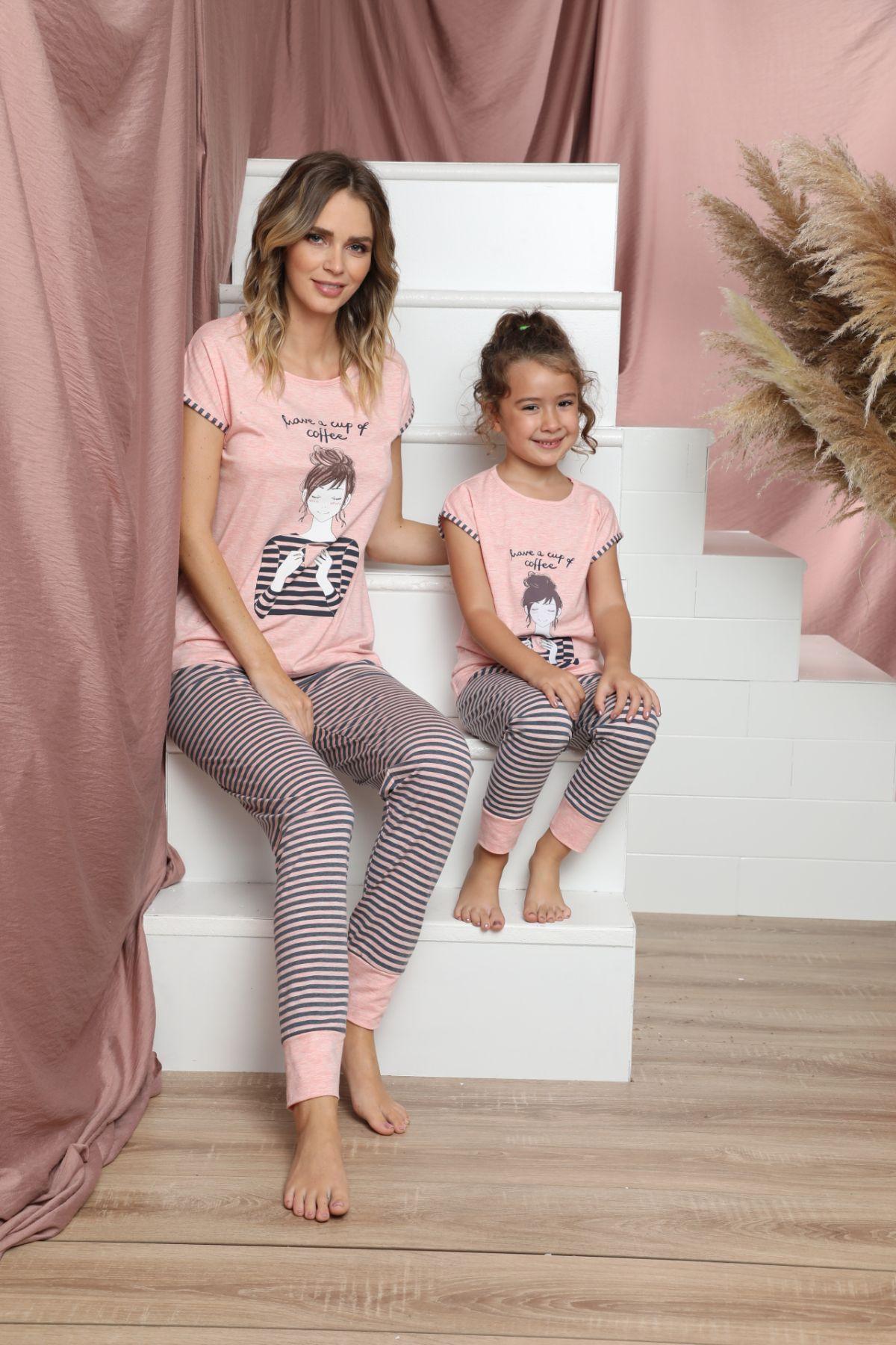 SIYAH INCI - Pamuklu Likralı Kısa Kollu Pijama Takım 21140836