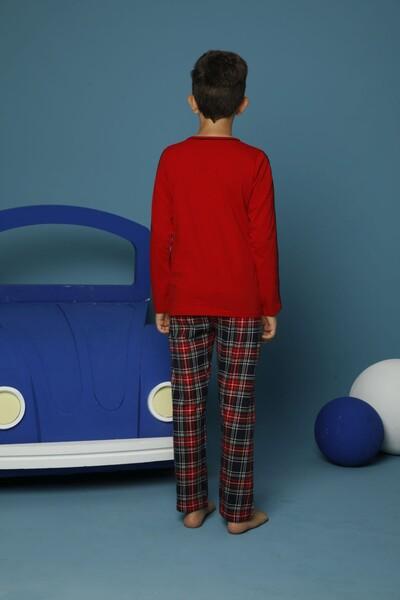 Pamuklu Likrali Pijama Takım - Thumbnail