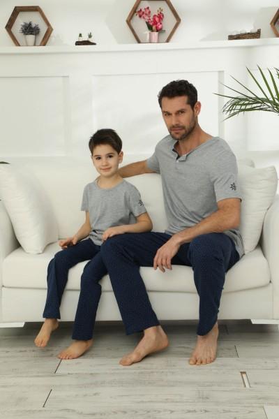Pamuklu Likralı Pijama Takım 21148020 - Thumbnail