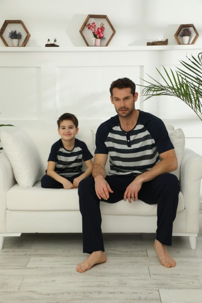 SİYAH İNCİ - Pamuklu Likralı Pijama Takım 21148030