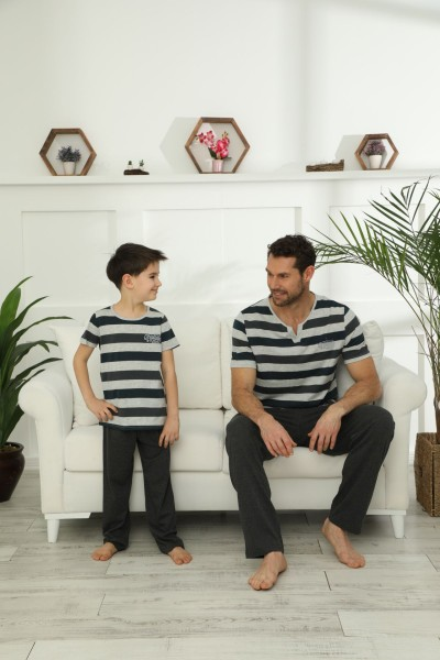 SİYAH İNCİ - Pamuklu Likralı Pijama Takım 21148035