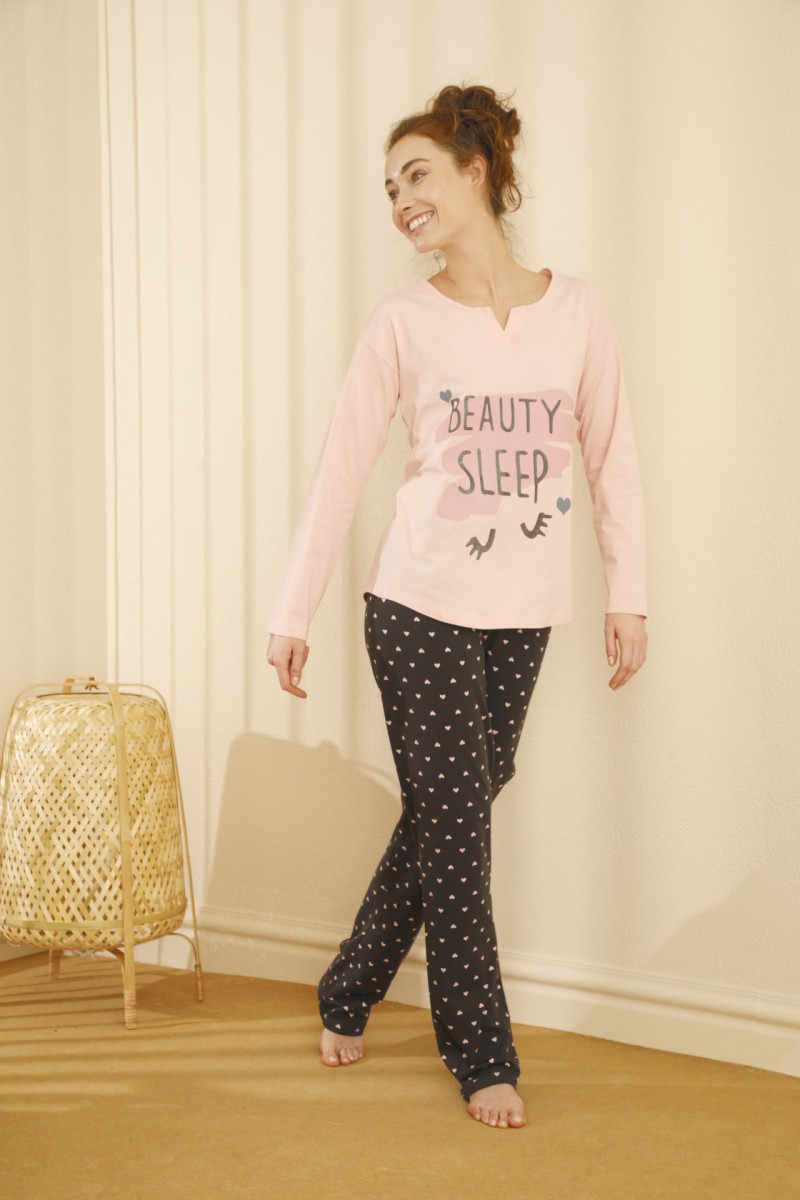 SİYAH İNCİ - Pamuklu Likralı Pijama Takım 21260325