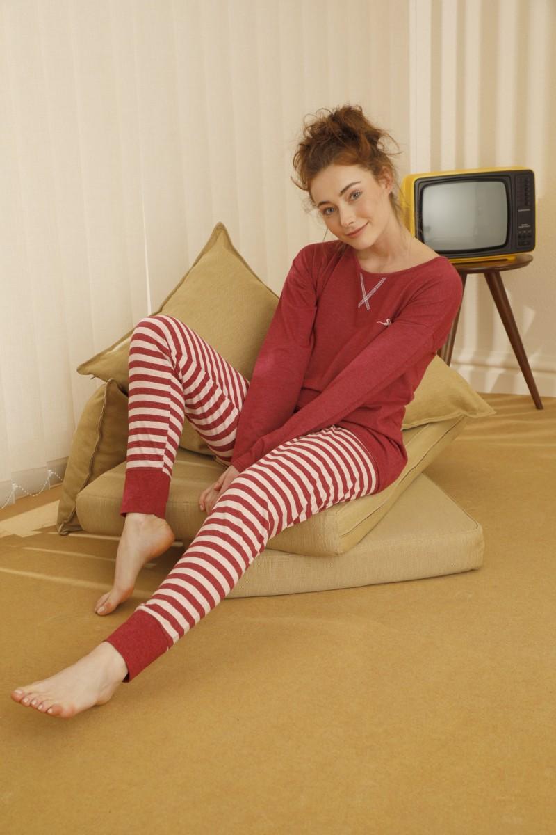 SİYAH İNCİ - Pamuklu Likralı Pijama Takım 21260331