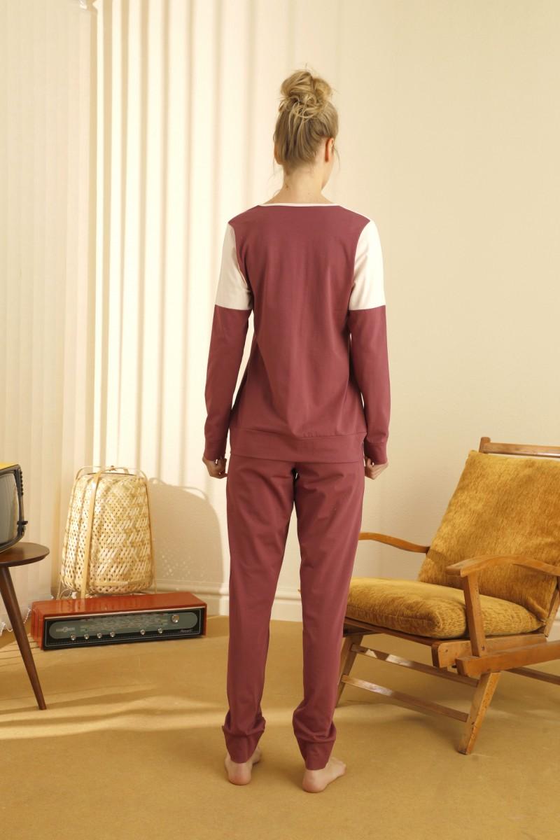 SİYAH İNCİ - Pamuklu Likralı Pijama Takım 21260455
