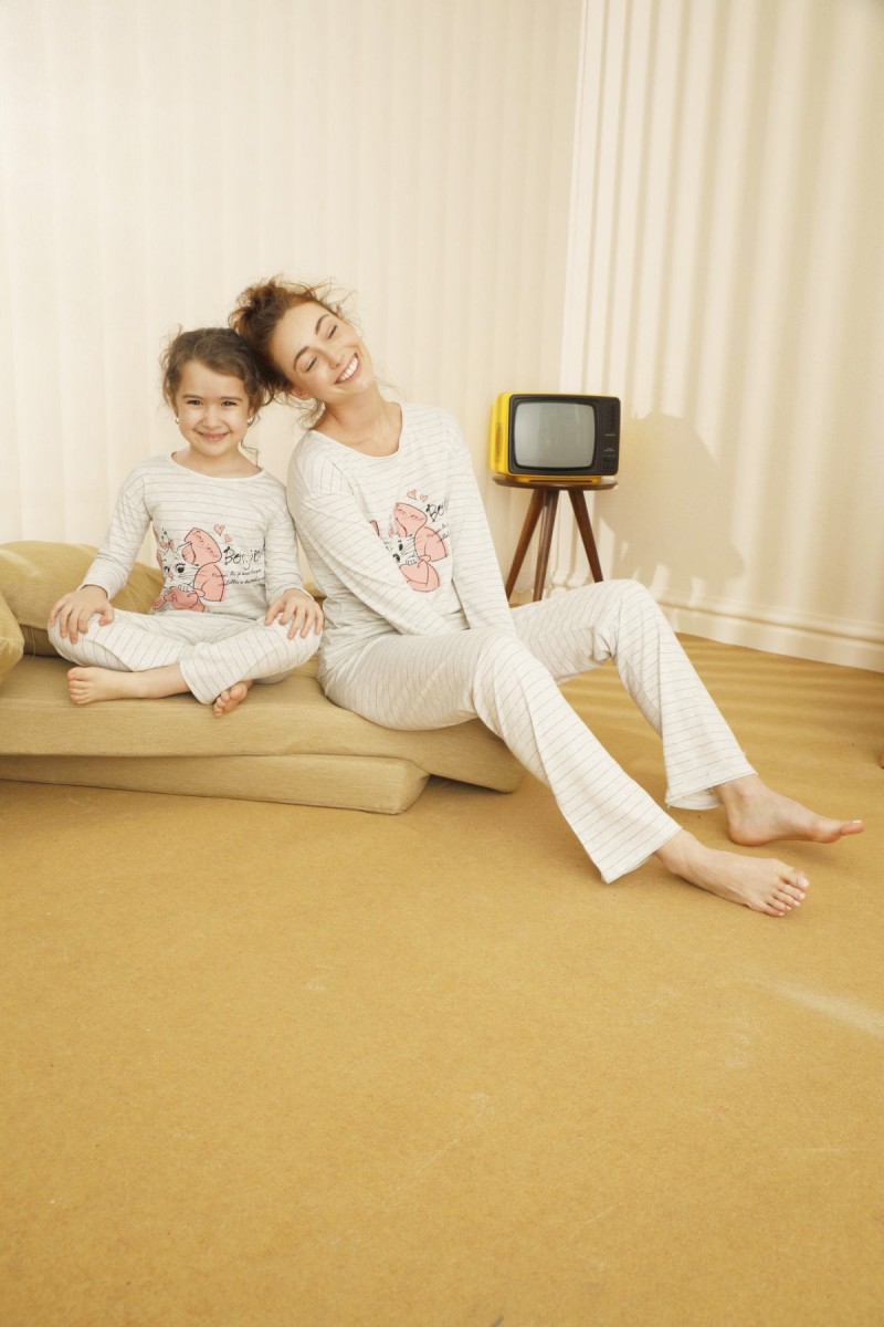 SİYAH İNCİ - Pamuklu Likralı Pijama Takım 21263072