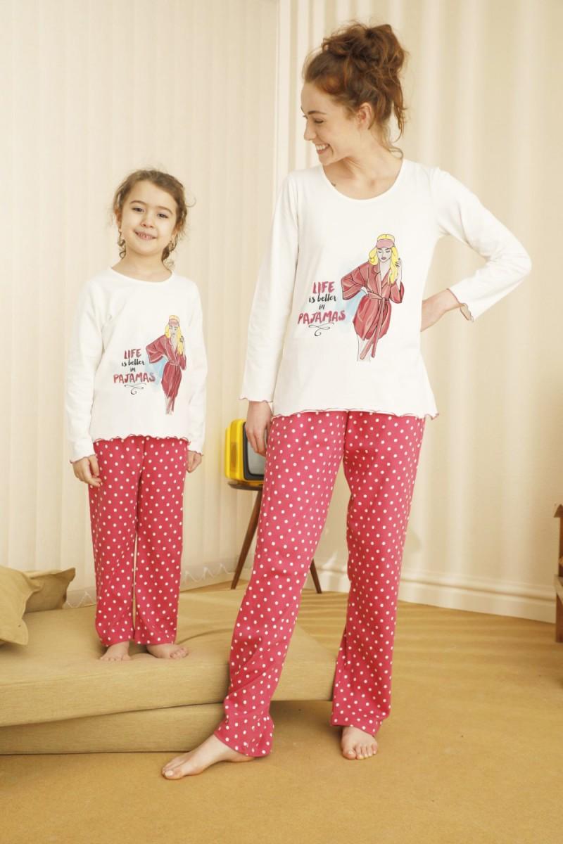 SİYAH İNCİ - Pamuklu Likralı Pijama Takım 21263076